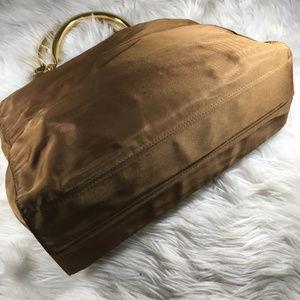 Prada Bags - Prada Gold Chain Handle Nylon Shoulder Tote Rare